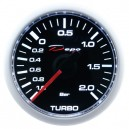 Depo Mechanical 52mm boost gauge -1~2 bar black dial & transparent lens