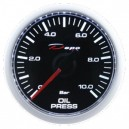 Depo Digital 52mm oil pressure gauge 0~10 bar black dial & transparent lens